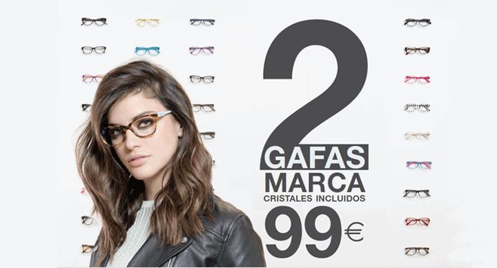 Opticalia 2 gafas graduadas 99 euros