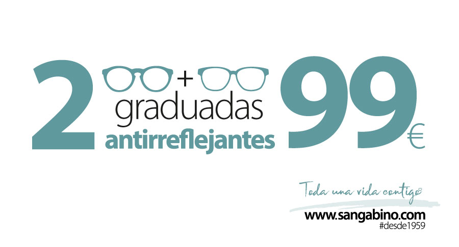 2 gafas graduadas antirreflejantes 99 euros