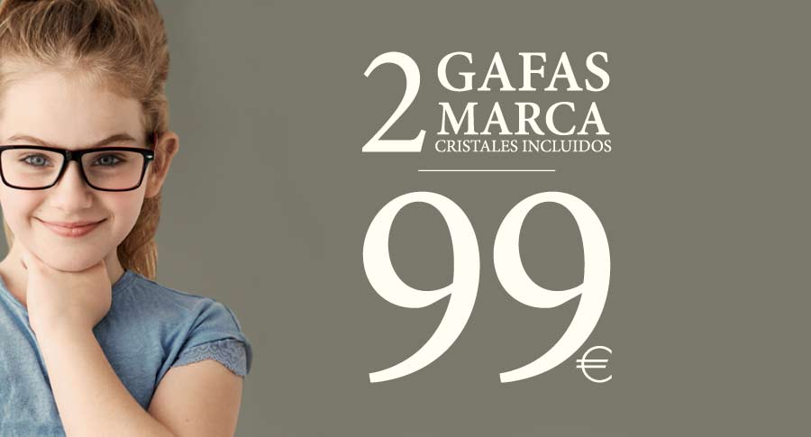 de20b39fab Gafas para niños: 2 gafas graduadas de marca por 99 euros.