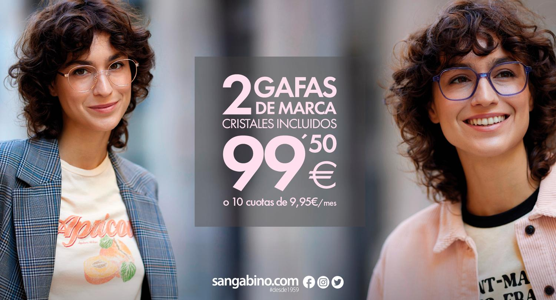 Oferta 2 gafas graduadas opticalia 2x99,50 euros 2021
