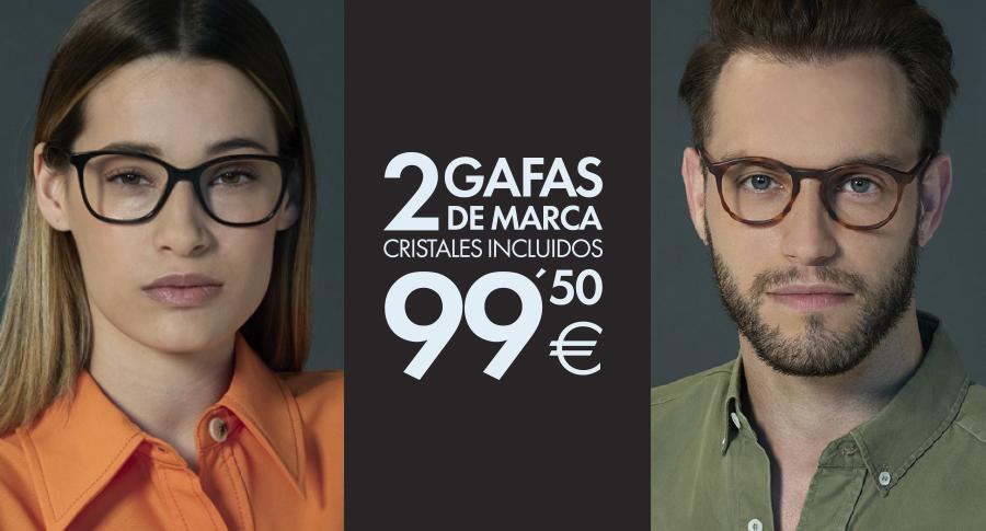 2 gafas graduadas opticalia por 99,50 euros