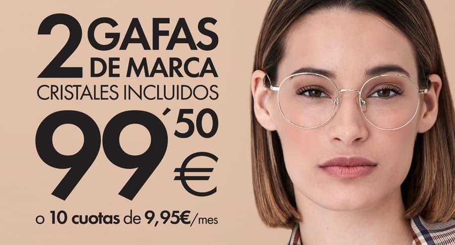 oferta 2 gafas graduadas de marca Opticalia por 99,50 euros