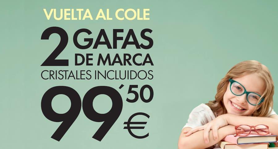 oferta 2 gafas graduadas de marca Opticalia por 99,50 euros para niños 2019
