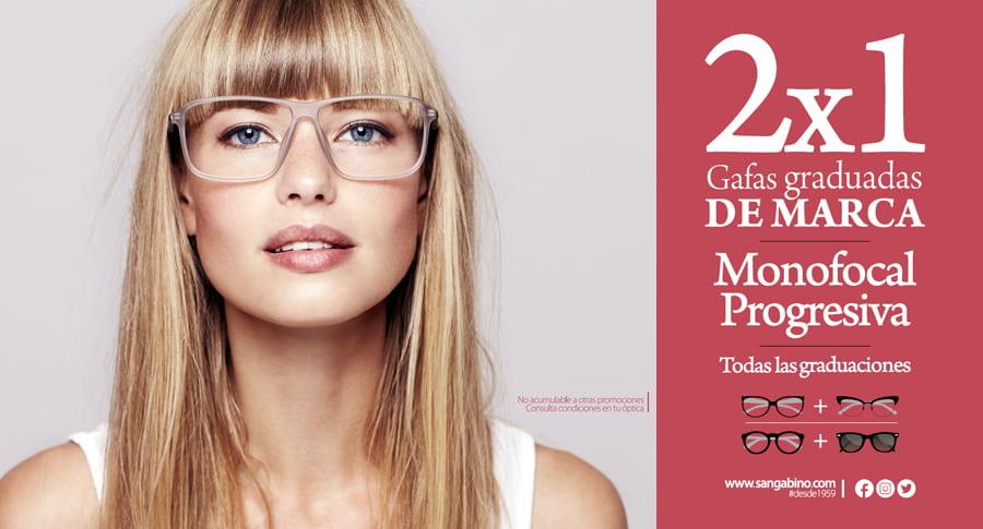 2x1 gafa graduada gratis monofocal o progresiva Opticalia