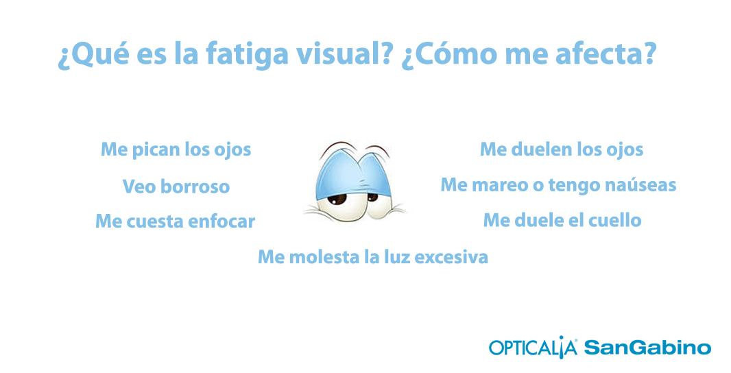síntomas de la fatiga visual