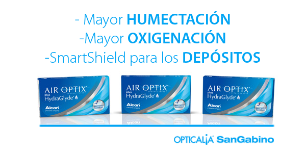 lentillas air optix plus hydraglyde