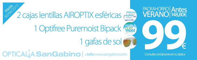 Oferta Air Optix + liquidos por 99 euros